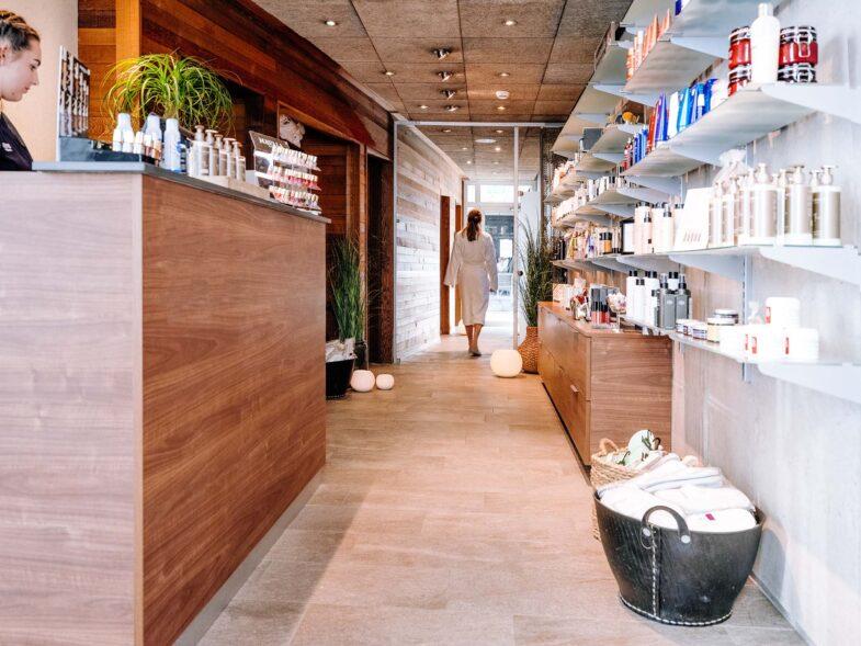 Spa reception och butik