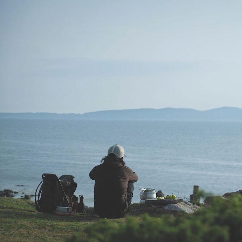 picknick vid havet