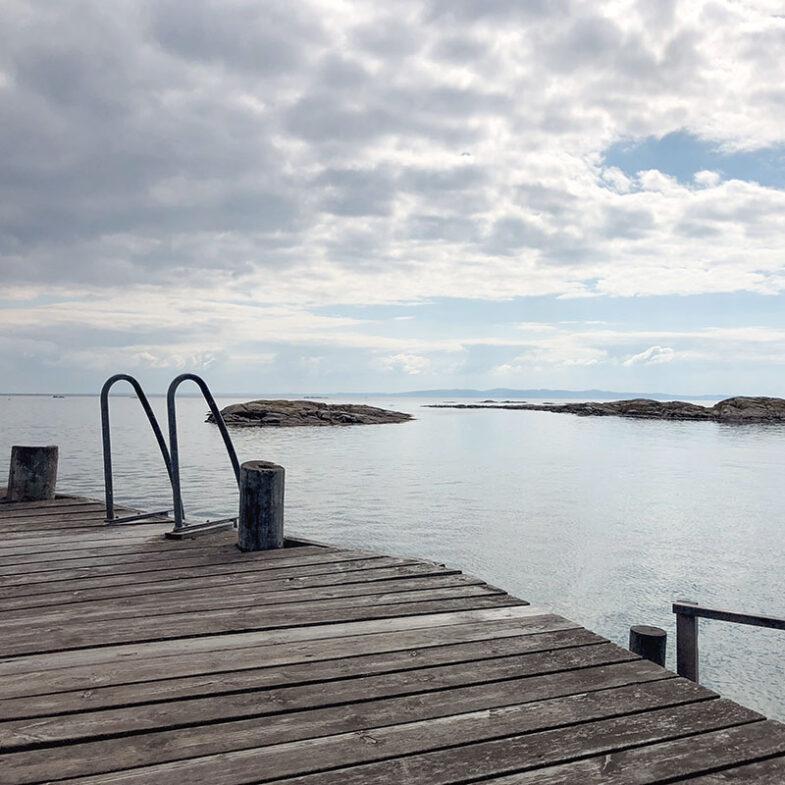 Bryggan vid kappelhamnen på Hallands Väderö Torekov.
