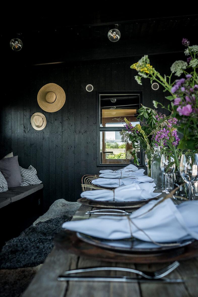 Dukat bord i Kappelhamn chambre séparée på Torekov Hotell